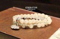 ceramic beads flower - 2014 New Products Beaded MM Lava stone beads K Gold Skull Elastic Bracelets for Men and Women s Gift