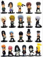 anime mini figures naruto - 21 pieces Japan Anime Whole Set Naruto Lovely Mini PVC Figure Toys Set action figure anime