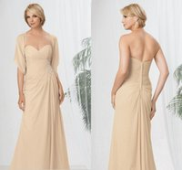 Wholesale Elegant Chiffon Champagne Pant Suits for Mother of the Bride Groom Dresses Mother off Bride Dresses for Beach Wedding with Jacket