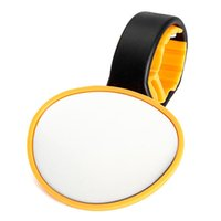 Wholesale 2014 New Universal Bicycle Cycling Handlebar Rearwiew Convex Mirror Yellow Rotate
