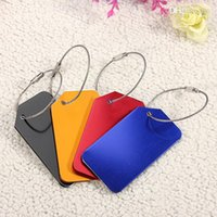 Wholesale Hot Aluminium Metal Colors Travel Luggage Name Address Suitcase Bag Tags Label bnOz