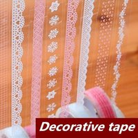 Wholesale 18 Lace Adhesive tape Decorative stickers Stationery for scrapbooking foto Masking tape School supplies