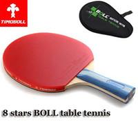 Wholesale Quality TIMO BOLL table tennis racket pat Original star TIMO BOLL Crabon racket bag PINGPONG paddle In pen holding handshake