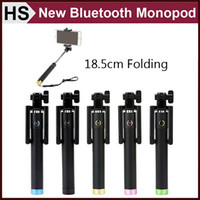 aluminum alloy series - Mini Folding Bluetooth Selfie Stick Series Wireless Monopod For Android iOS5 Smart Phone Extendable Newest DHL