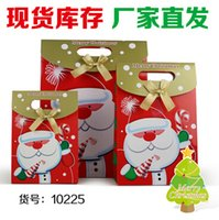 Wholesale Hot Christmas Gift Wrapping Bags Packaging Paper Bag Christmas Paper Bags Cartoon Handle Gift Wrap Paper Bags Design Mix Colors Free Ship