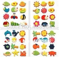 Wholesale 12pcs Cute animal Wooden fridge magnet Memo Sticker