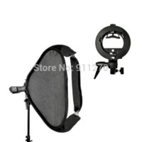 Soporte de Godox S-Tipo Speedlite Soporte de montaje Bowens + 50x 50cm Handy Softbox + Bolsa de paquete de bolsa para cámara