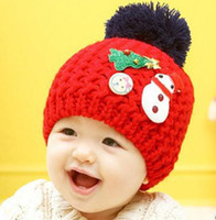 baby christmas hat knitting pattern - baby girls Boys Christmas autumn winter knitting wool cap with Snowman Christmas tree pattern baby handmade hat color choose