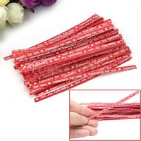 Wholesale New Paper Twist Ties For Party Wedding Cello Candy Gift Bags Bright Red