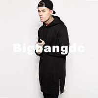 belt amps - 1226 Fleece hoody Plus Size Hip Hop long hoodie Streetwear Longline Side Zipper Hoodies Sweatshirts men hoodies amp sweatshirts