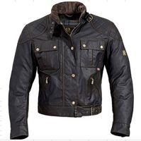 Wholesale Fall fashion UK union small flag steve mcqueen waxed cotton jacket roadmaster waxed jacket i am legend jacket j7