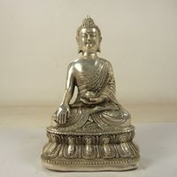 buddha statues - Antique hands Tibetan buddha Bodhisattva Tibet silver carved Buddha statue blessing people Buddha Statue Decoration