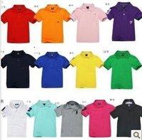 kids fabric cotton - Summer Kids T Shirt cotton children fashion Pure color knitted fabric boysT Shirt Girl shirt Children s shirt