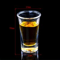 acrylic shot glasses - Bakest hot sales new arriving Shot glass PC material wineglass Acrylic Liquor cup drinkware goblet with PC