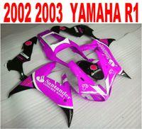 aftermarket yamaha parts - Injection molding plastic fairing kit for YAMAHA R1 fairings set yzf r1 black red Santander aftermarket parts HS22