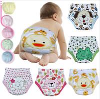 baby shorts learn - Cartoon Toddler Underwear Animal Baby Boys Girls Training Pants Three Layers Waterproof Learning Shorts Children Clothing Kids Short Pants