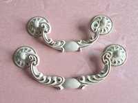 bail pull - 3 quot quot Shabby Chic Bail Dresser Pull Drawer Pulls Handles White Gold French Country Kitchen Cabinet Handle Furniture Hardware