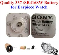 Wholesale 100pcs battery for mini earpiece SR416SW Silver V Button Cell Batteries for watch headphones