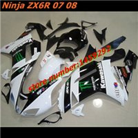 Wholesale Motorcycle body kits Fairing For KAWASAKI NINJA ZX R ZX636 ZX ZX6R white black ZX R ABS parts