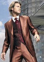 dress suit for men - 2015 One Button Groom Tuxedos Suit For Men Groom Dress Pants For Men Two Pieces Suits