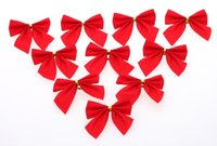 Wholesale Christmas ornaments Christmas tree ornaments Christmas Decorations Bow knot Rosette Cheap Decorations
