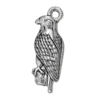bald eagle animal - New Fashion Easy to diy Tibetan Silver Plated Single side Animal Series Bald Eagle Charm Jewelry jewelry making fit for