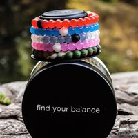 Wholesale Newest Pink Silicone Bracelets Mud and Water Black and White beads lokai Silicone Bracelet Gift Jewelry Find Your Balance jewelry WH