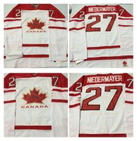 Cheap Mens #27 Niedermayer White 2010 Canada Team Vancouver Winter Olympic Hockey Jerseys Ice International Sports Stitched Premier Authentic