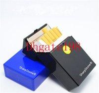 Wholesale New Sharp Stone for smoking Cigarette Holder Tobacco Storage Case Gift Herb Plastic sharpstone Cigar Cigarette Box
