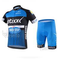 Wholesale Cheap Newest Cycling Fashion Jerseys Set Quick Step Blue Mountain Road Racing Bicycle Clothing Pro Team Summer Riding Wear