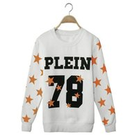 Wholesale Casual Sport Hoodies Sweatshirts Autumn Women New Fashion Trend PLEIN Letter Stars Printed Tops Pullover Plus Size S XL