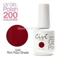 art rubies - Civi ML Rich Ruby Shade Color ML UV Gel Nail Polish Cosmetics Nail Art Colors For Choose