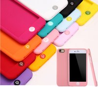 apple jelly beans - Colorful Jelly Bean silicone case cover for iphone6 s cute candy color soft silicone back cover for iphone inch