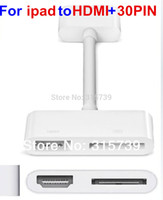 av direct - Digital AV Adapter Pin Dock Connector to HDMI Adapter Video Audio Charging For iPad air iPhone S iPod