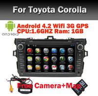 usb pc steering wheel - 8 quot HD Touch Screen Car PC Android Car DVD for Toyota Corolla GPS Bluetooth Radio TV USB SD PIP Steering wheel control