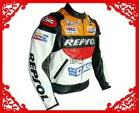 Wholesale NEW hot sales TOP quality motorcycle racing jacket S XL REPSOL PU jacket
