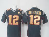 Wholesale Jersey Manning Wilson Newton Brady Super Bowl Jerseys Quarterback Football Jersey With Super Bowl Patches Men Elite Football Jersey