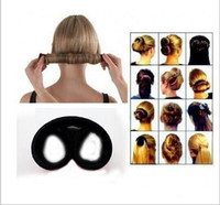 Wholesale 2015 New Hairagami Hair Bun Updo Fold Dish Hair Circle Tail Hot Knot Sticks Hold And Hide Hair Up Clip Jewelry accessories
