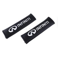 Wholesale Interior Accessories Seat Belts Padding Cushion Cover Car Safety Seat Belt Harness Shoulder Pad Black for Infiniti q50 qx56 g35