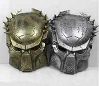 Wholesale 2014 New Colors Iron Man Style AVP Costume Masks Supper Alien Vs Predator Mask Warrior Movie Prop AVPR Soldier