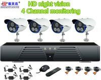 Wholesale SJ T203C ch CCTV System DVR Kit TVL Cameras with IR Cut ch DVR with HDMI VGA Output Mobile Phone View