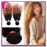 outlet brazilian hair - Brazilian Afro Kinky Curl Extension Tone Ombre Weaves Bundles Outlet Hair Weaving Virgin Raw Hair Peruvian Kingky Curly g Accept Paypal