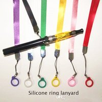 Wholesale E cigarette ego silicone Lanyard Ring necklace ring For CE4 CE5 CE6 T2 T3 T3S T4 EVOD Atomizer Silicone Necklace Ring