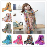 Wholesale 18 colors girl scarf Scarves women Gauze Scarf Gauze Scarf Chiffon scarves