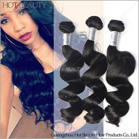 Indian Hair beauty wave loose - 2016 A Remy Human Hair Weave Peruvian Loose Wave Peruvian Virgin Hair Hot Beauty Hair