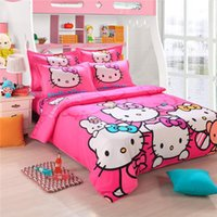 Cheap Kitty for christmas bedding set 100% cotton brand logo bed clothing comforter set bed set quilt cover linens duvet set children