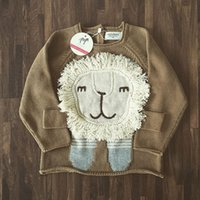 Pullover no brand Unisex 2016 children sweater knitting coat Cartoon animal lion sweaters wholesale INS kids pullover boys and girls baby clothing 150