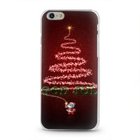 Wholesale Christmas cover for iphone plus hard case color print