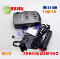 Wholesale 2015 New Sale English Black English russia Arrival Car Radar Detector Beltronics Rx65 Full Laser English russian Voice with Led Display