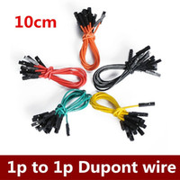 Wholesale p to p cm colors male to female jumper wire Dupont cable order lt no track